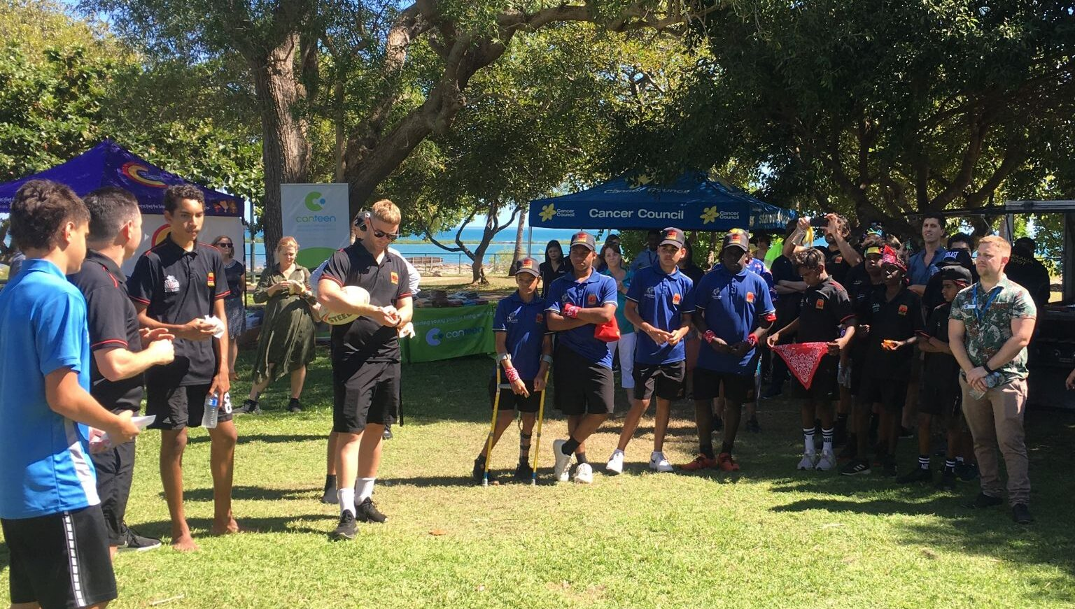 Clontarf Academy Pre NAIDOC Week Celebrations, Sunset Park, Darwin, 23 June 2021