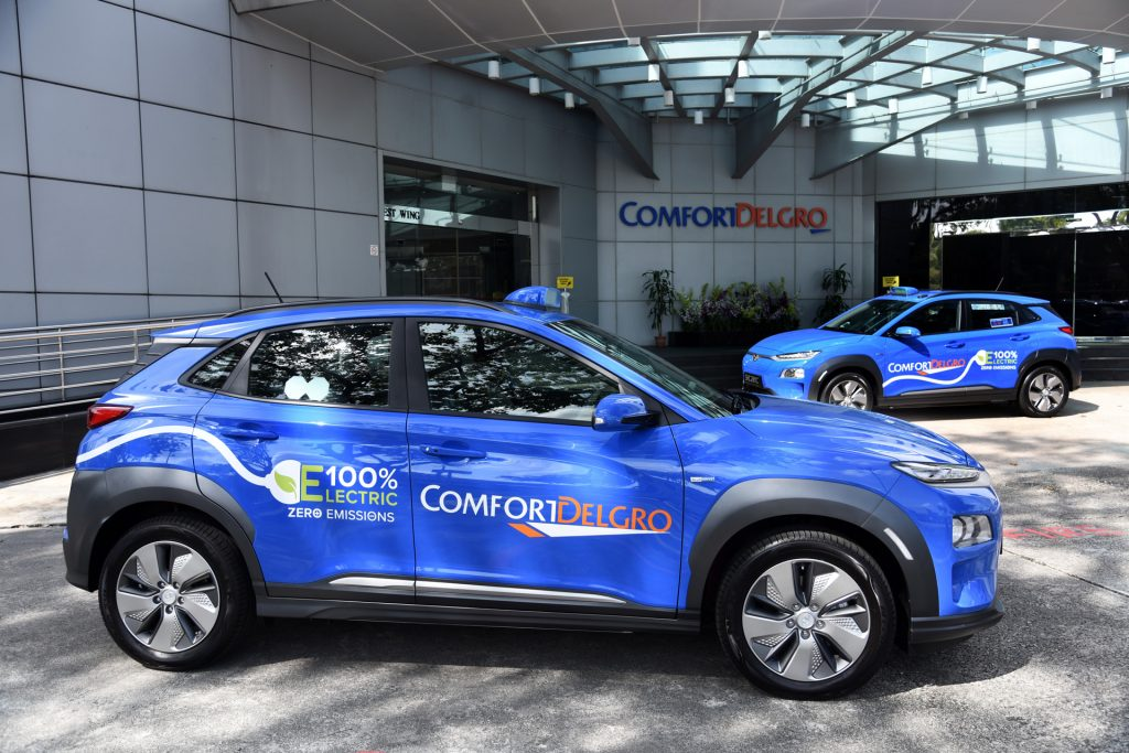 Singapore Hyundai Kona Electric Taxi